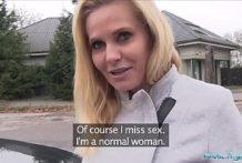 Rychlý prachy za sex v aute s Češkou