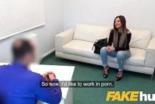 Fake agent porno kasting