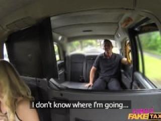 Female Fake Taxi - dnes s hasičom