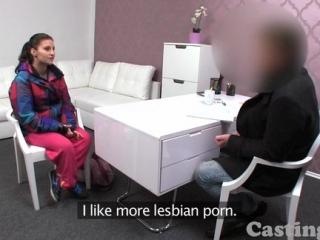Česká brunetka na castingu
